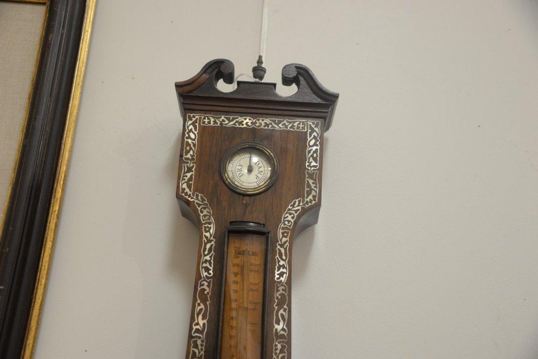 Horatio Yeates rosewood wheel barometer clock having - 2