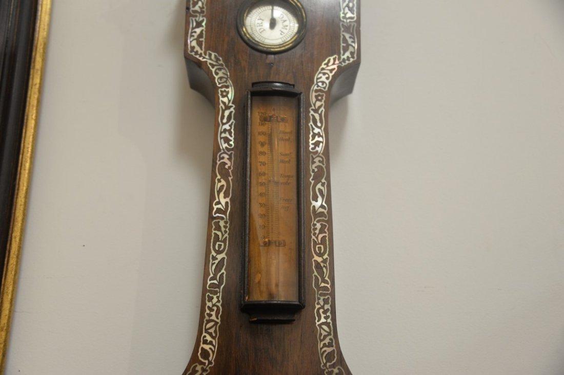 Horatio Yeates rosewood wheel barometer clock having - 3