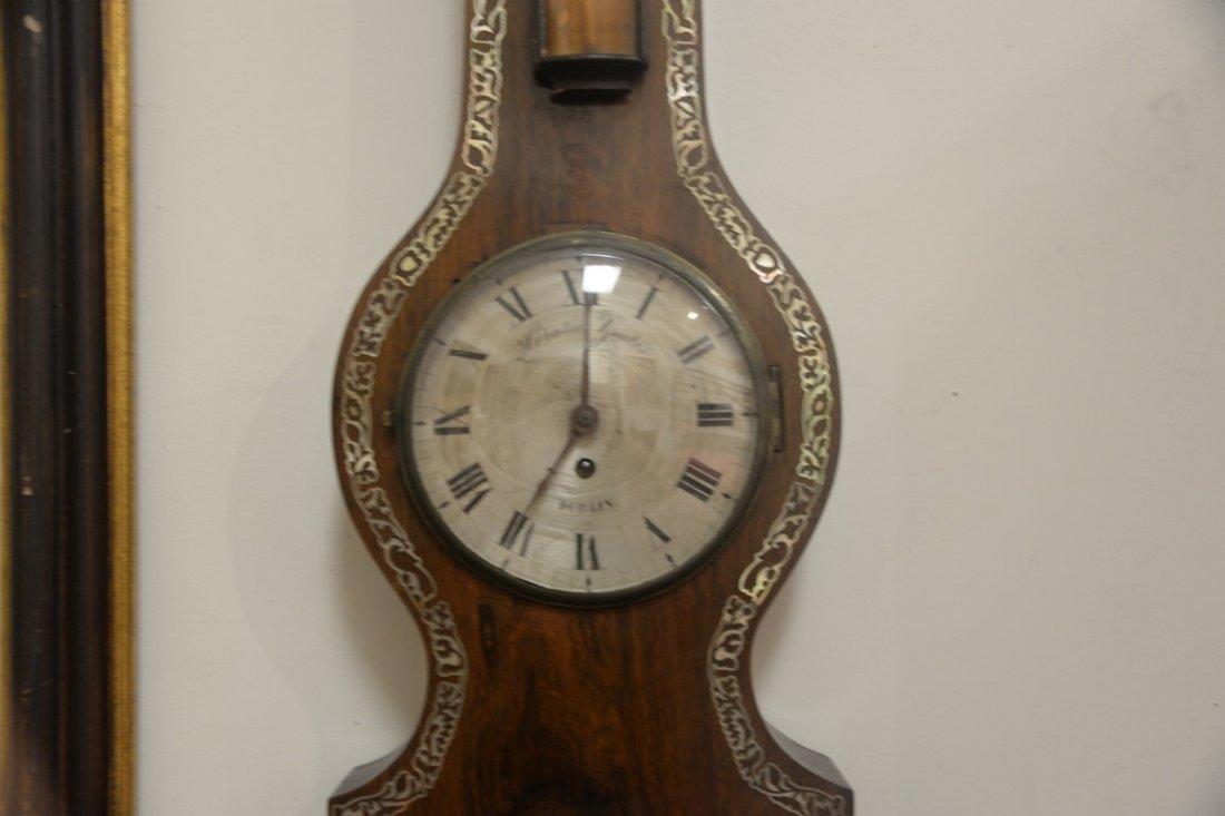 Horatio Yeates rosewood wheel barometer clock having - 4
