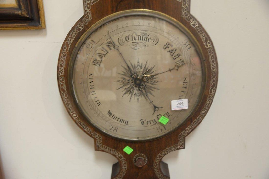Horatio Yeates rosewood wheel barometer clock having - 5
