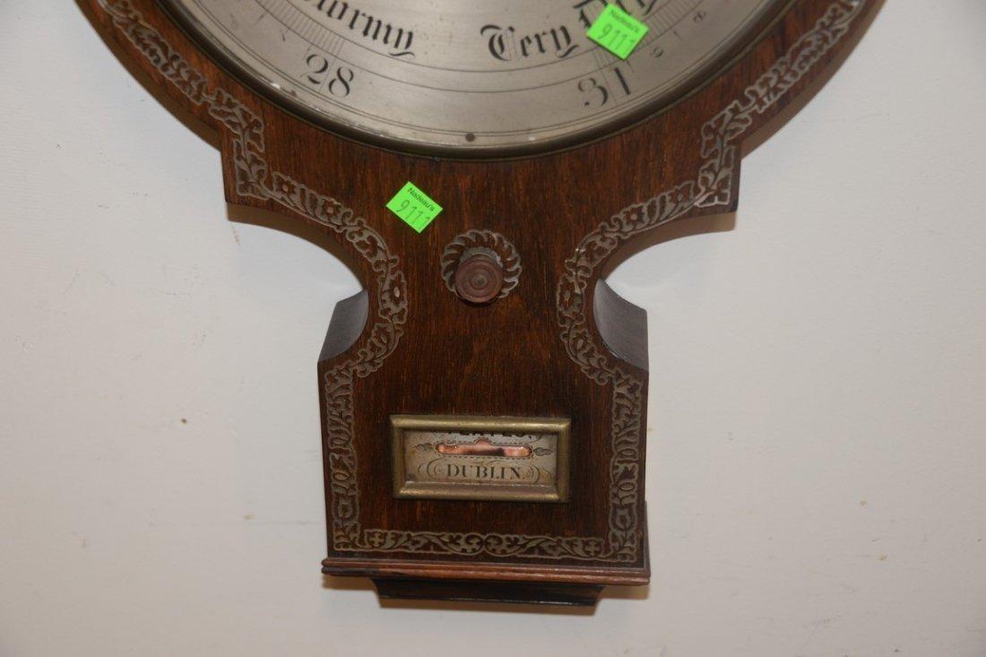 Horatio Yeates rosewood wheel barometer clock having - 6