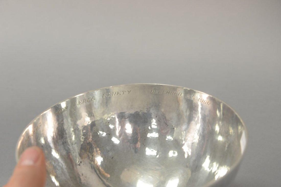 Cohr Denmark hand hammered sterling silver footed bowl, - 3