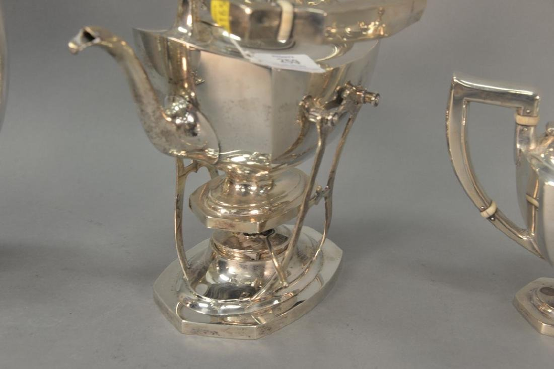 Six piece sterling silver tea and coffee set with - 8