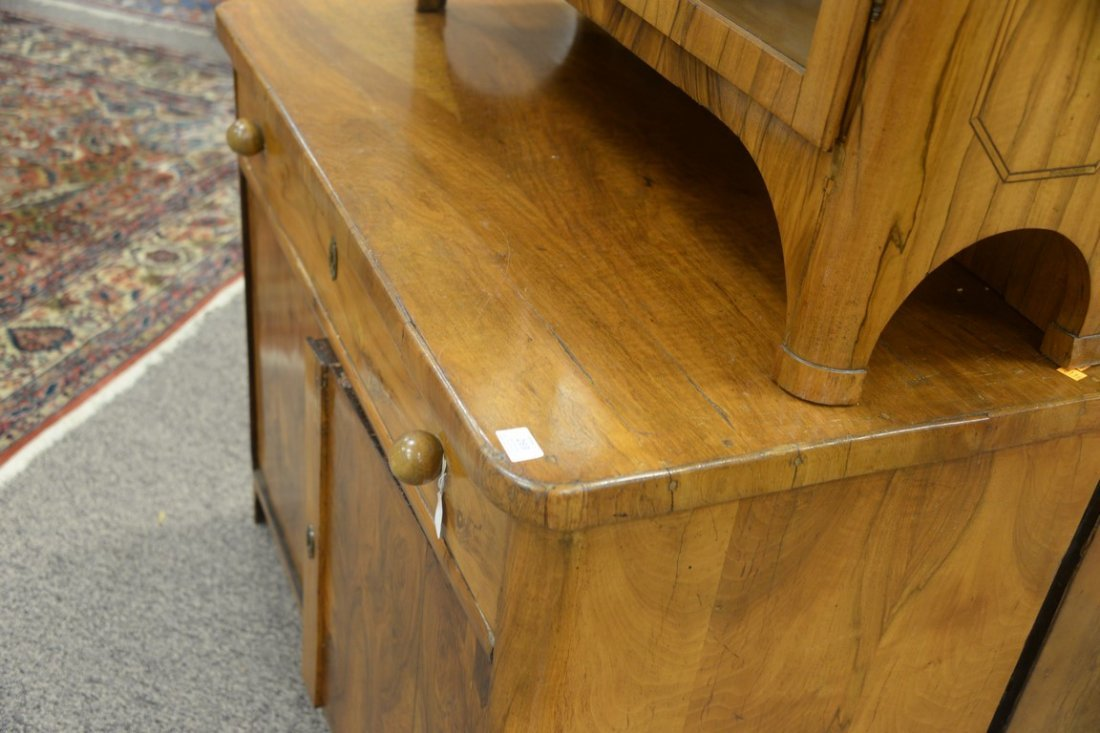 Biedermeier style cabinet with one long drawer over two - 3