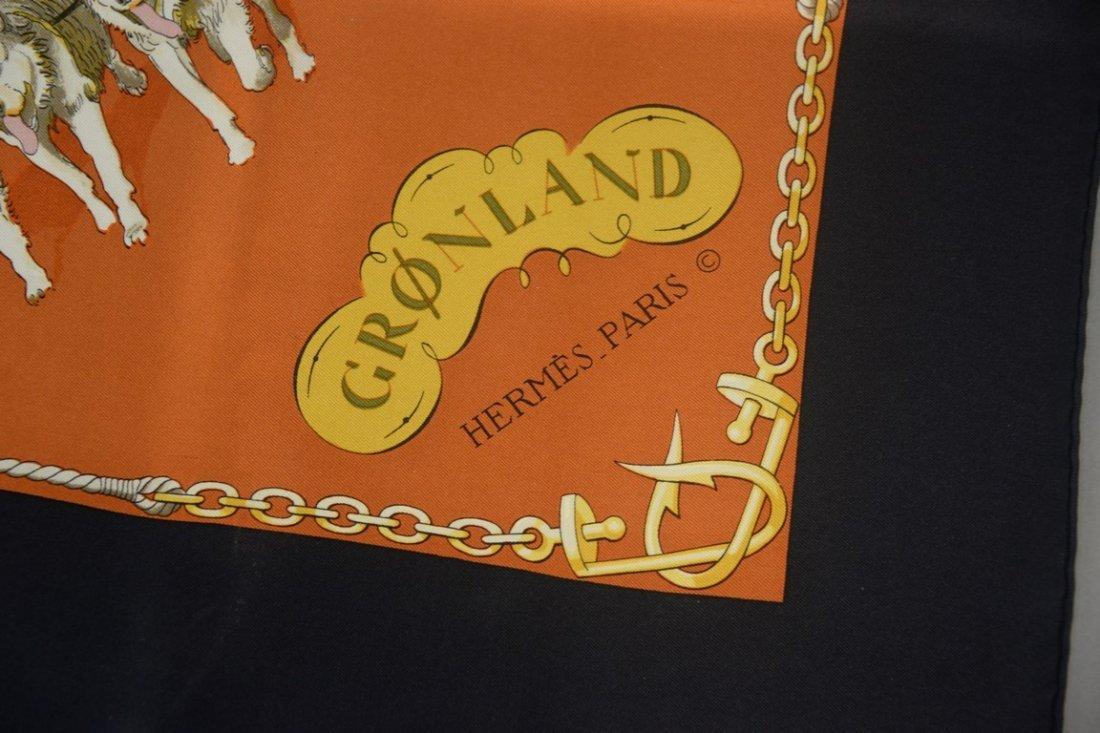 "Hermes Paris silk scarf ""Gronland"" by Philippe Ledoux, - 2"