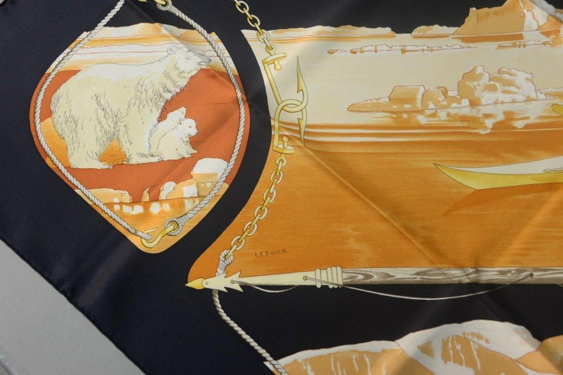 "Hermes Paris silk scarf ""Gronland"" by Philippe Ledoux, - 3"
