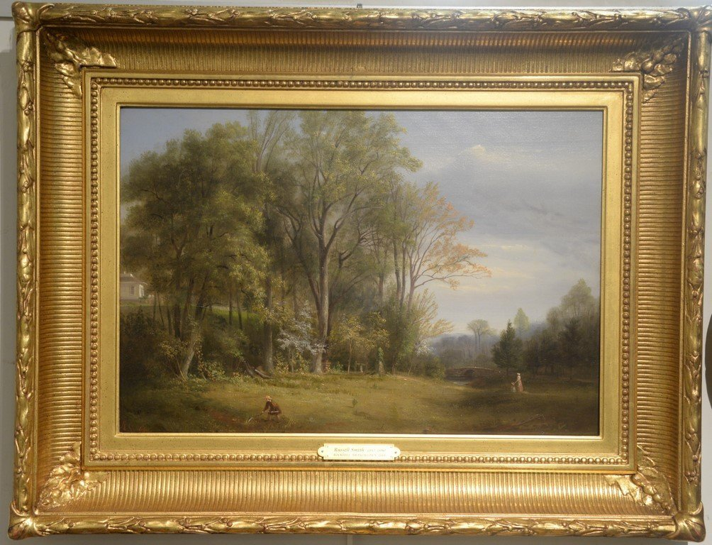 "Russell Smith (1812-1896)  oil on board  ""Rockhill"