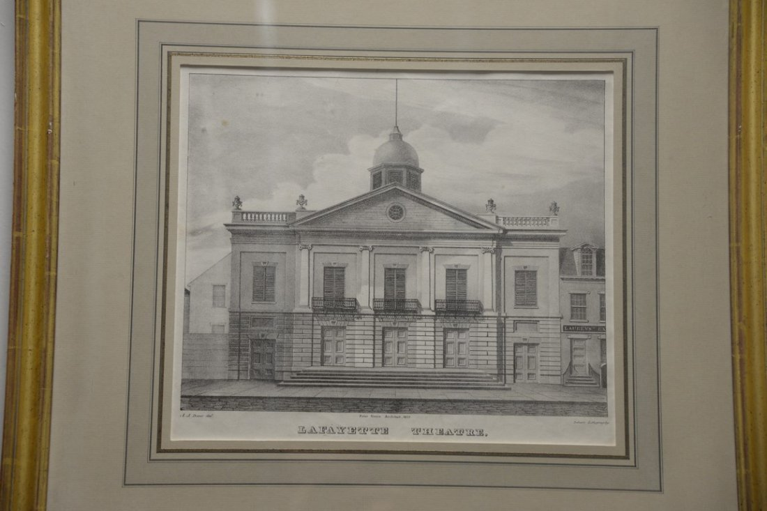 Pair of Architectural lithographs  Anthony Imberts - 2