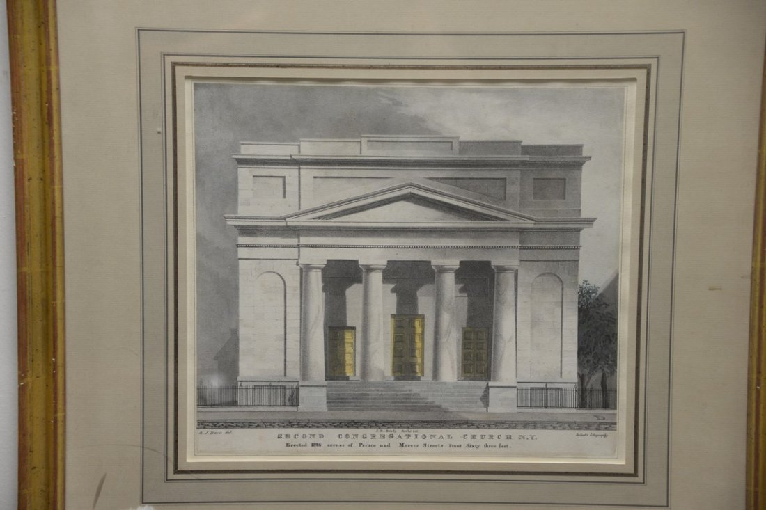 Pair of Architectural lithographs  Anthony Imberts - 3