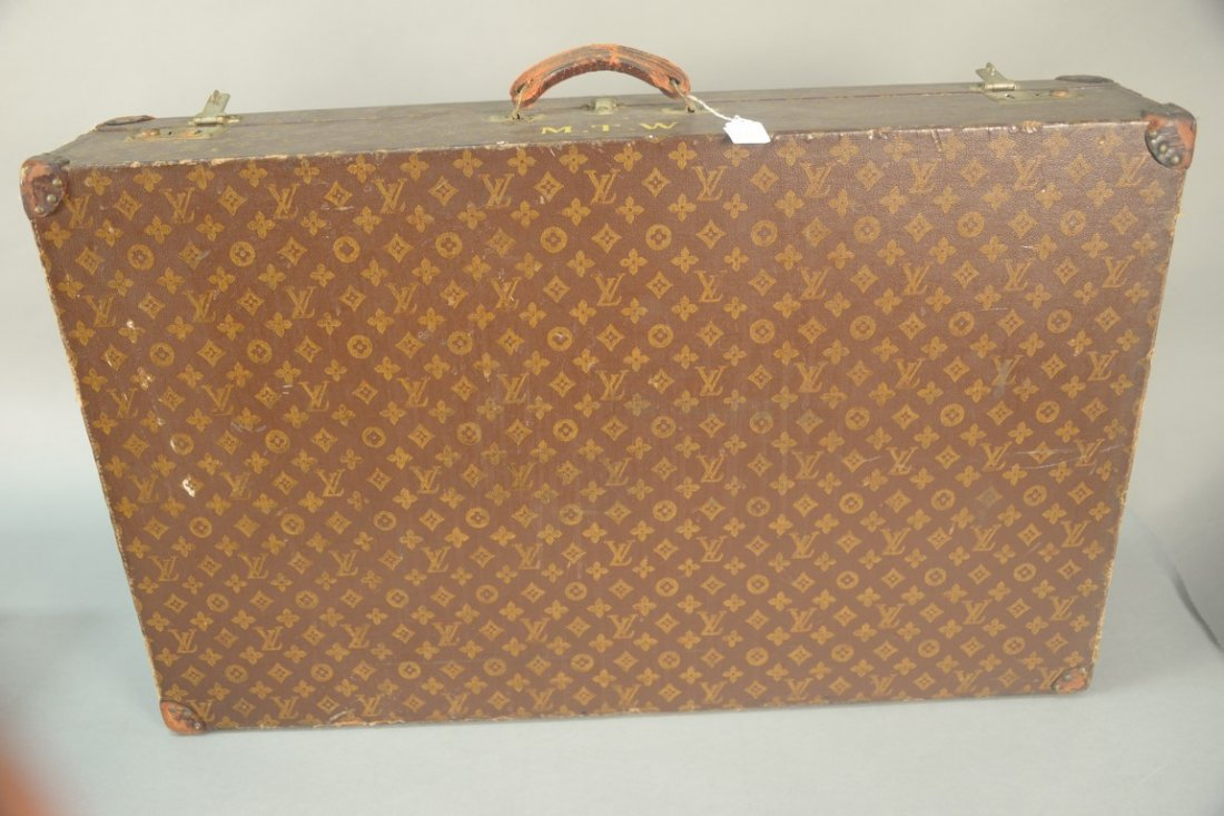 Louis Vuitton monogram canvas suitcase, hard shell with - 9