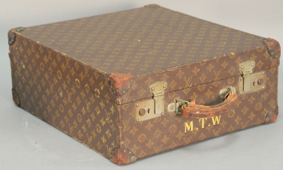 Louis Vuitton monogram suitcase, hard shell exterior