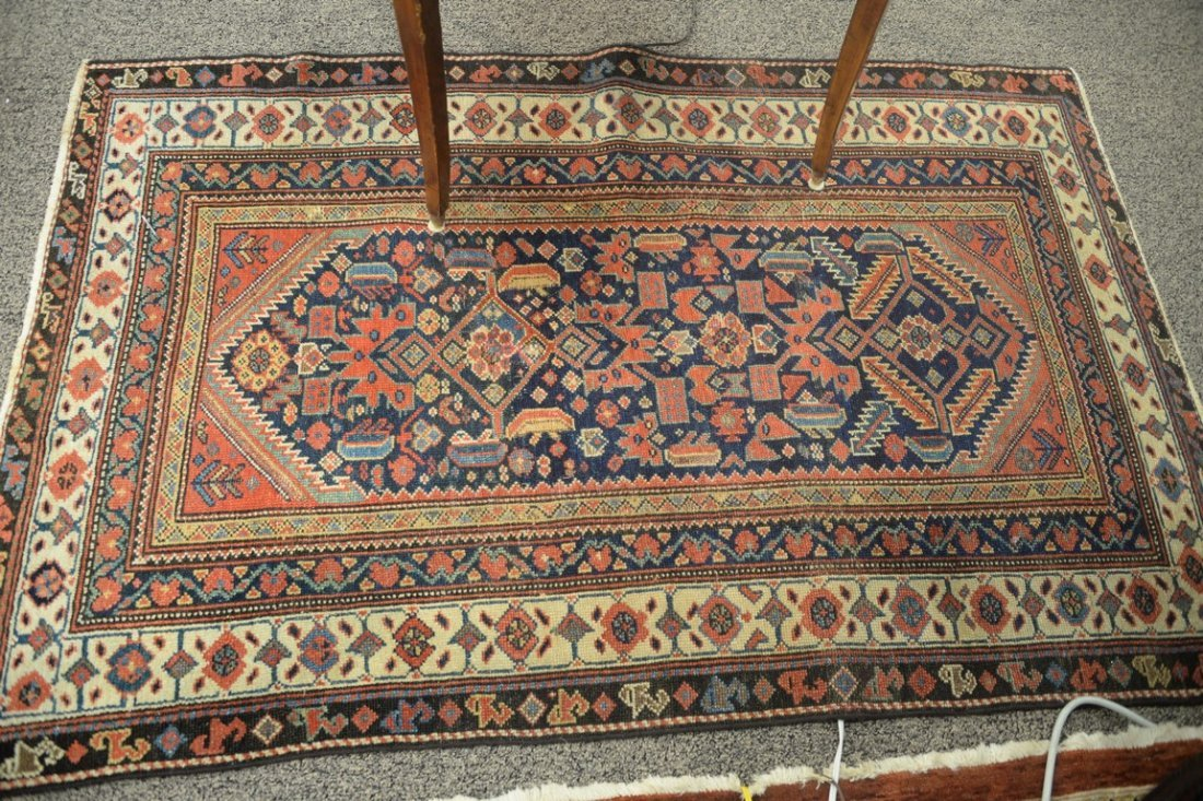 "Hamadan Oriental carpet, late 19th century.  3'9"" x - 2"