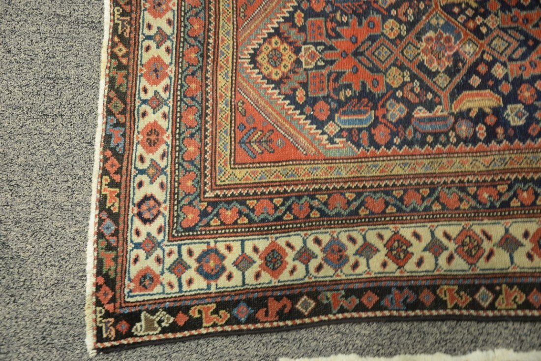 "Hamadan Oriental carpet, late 19th century.  3'9"" x - 3"