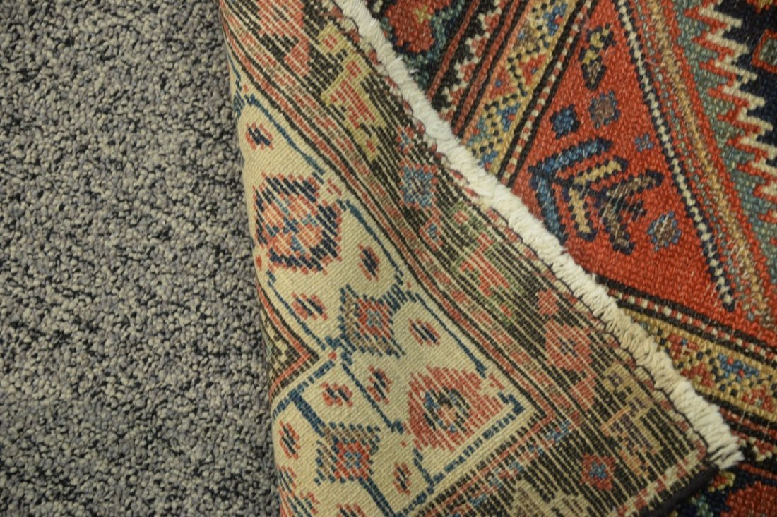 "Hamadan Oriental carpet, late 19th century.  3'9"" x - 4"