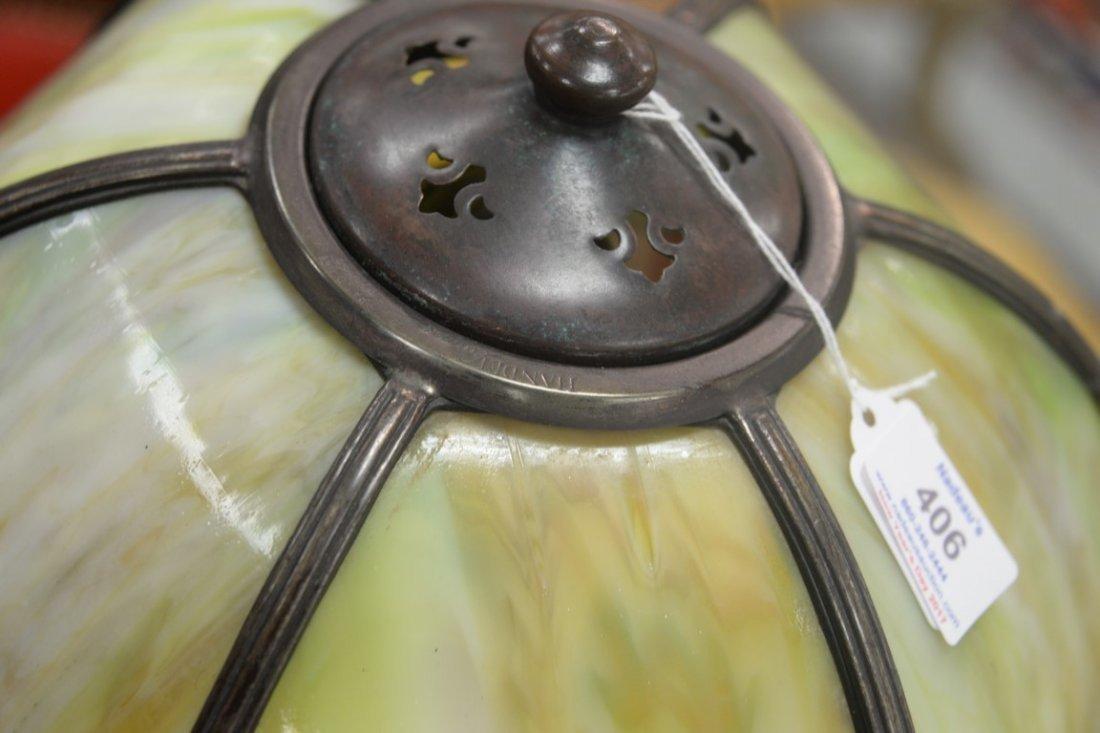 Handel table panel lamp having slag glass shade with - 7