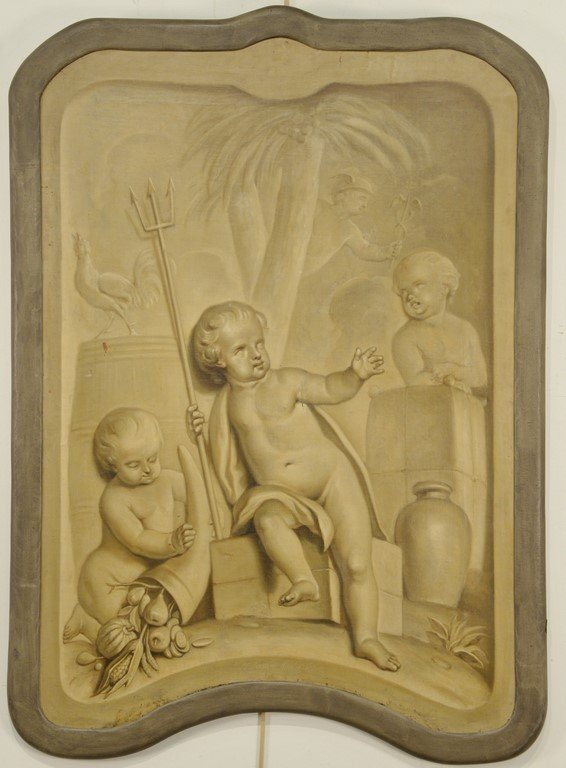 Tibout Regters (1710-1768)  oil on canvas  Three Putti