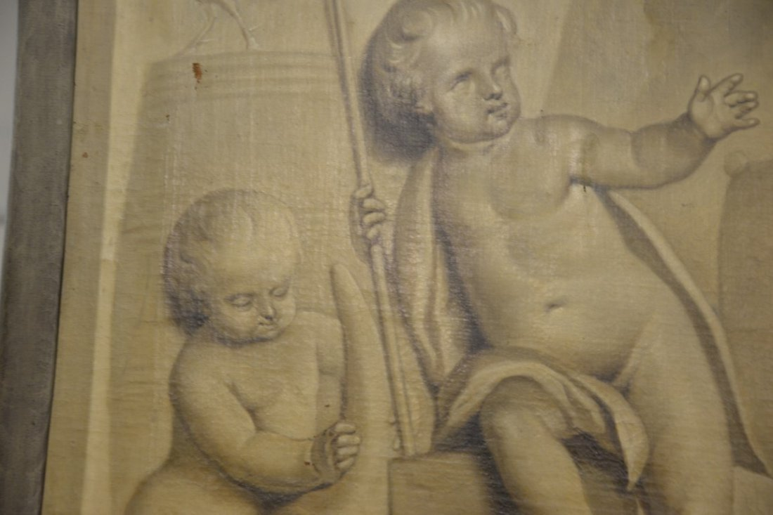 Tibout Regters (1710-1768)  oil on canvas  Three Putti - 3