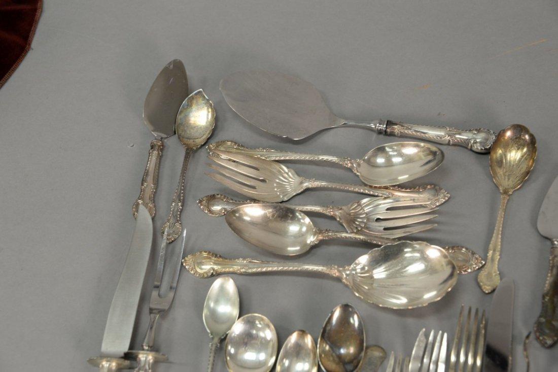 Gorham sterling silver flatware set, 91 total pieces - 3