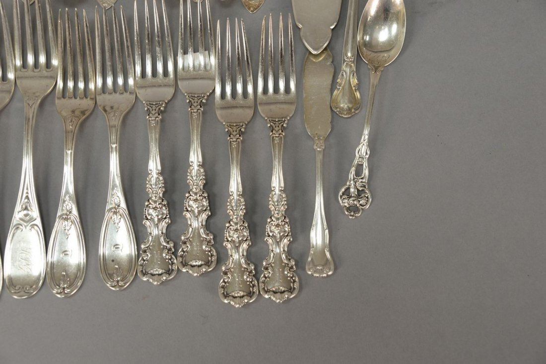 Silver lot with spoons and forks including two Tiffany - 2