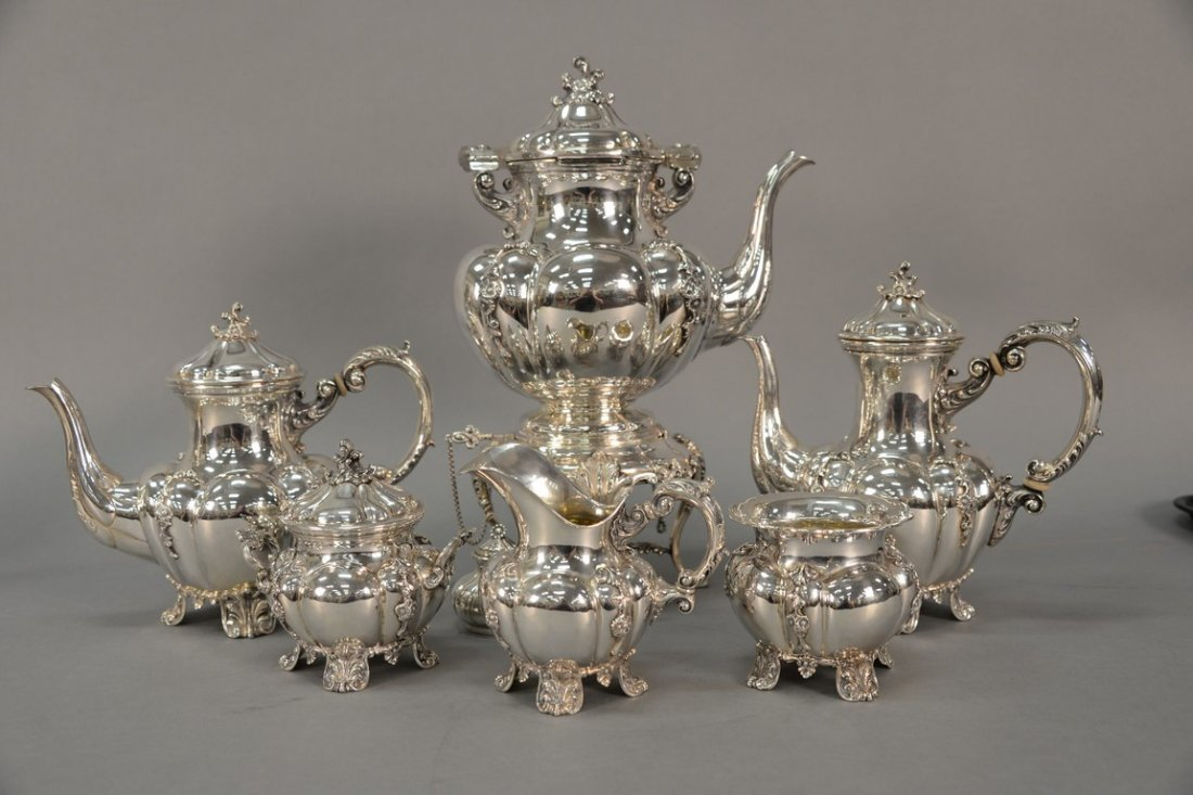 Six piece sterling silver tea and coffee marked Tutunzi - 2