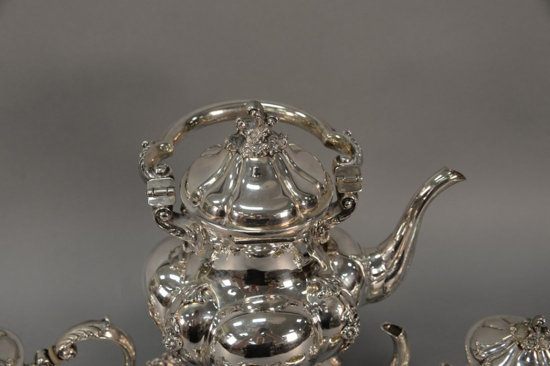 Six piece sterling silver tea and coffee marked Tutunzi - 3