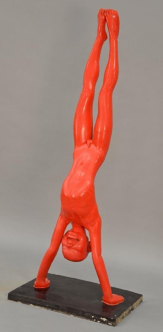 Wenling Chen (1969)  life size bronze  Red Boy Doing - 2