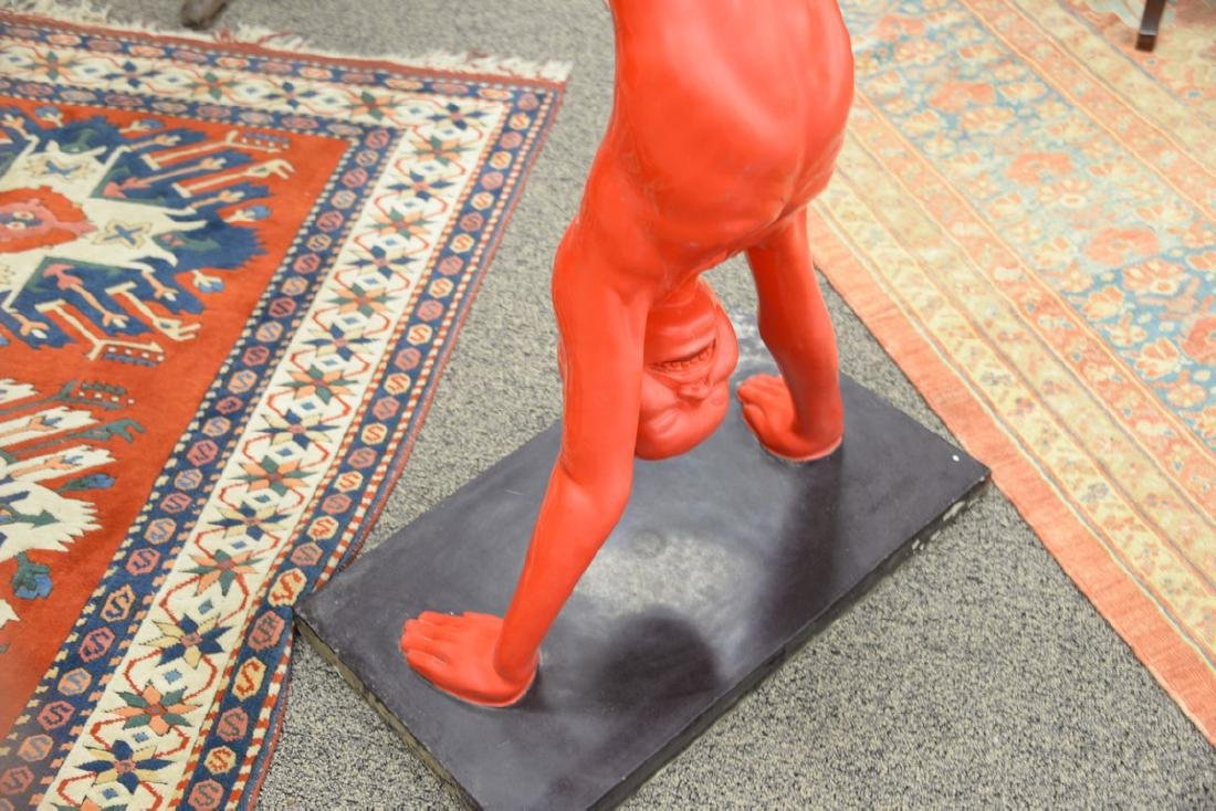 Wenling Chen (1969)  life size bronze  Red Boy Doing - 4