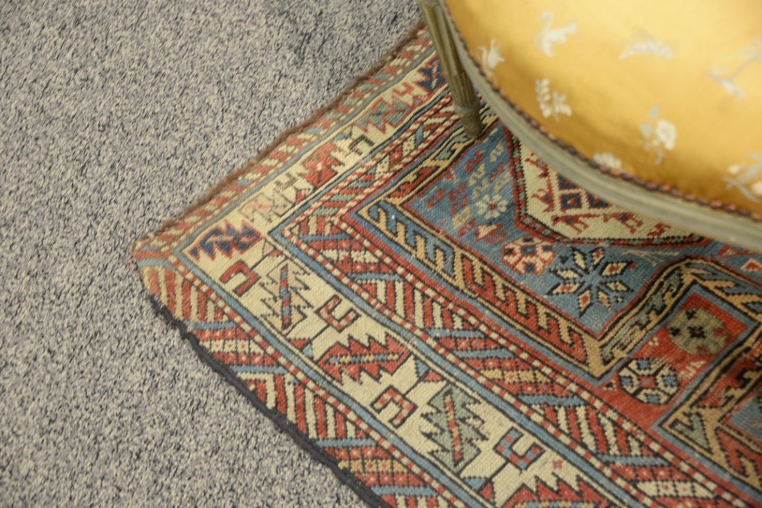 "Caucasian Oriental runner.  3'5"" x 7'7""  (some wear) - 5"