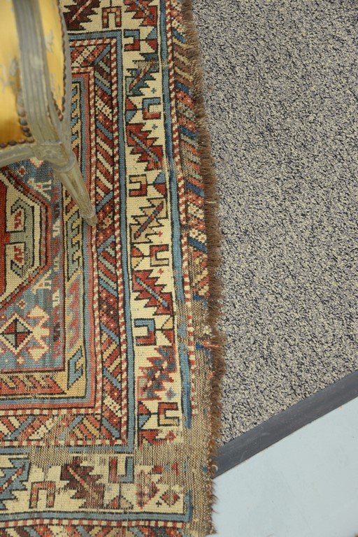 "Caucasian Oriental runner.  3'5"" x 7'7""  (some wear) - 6"