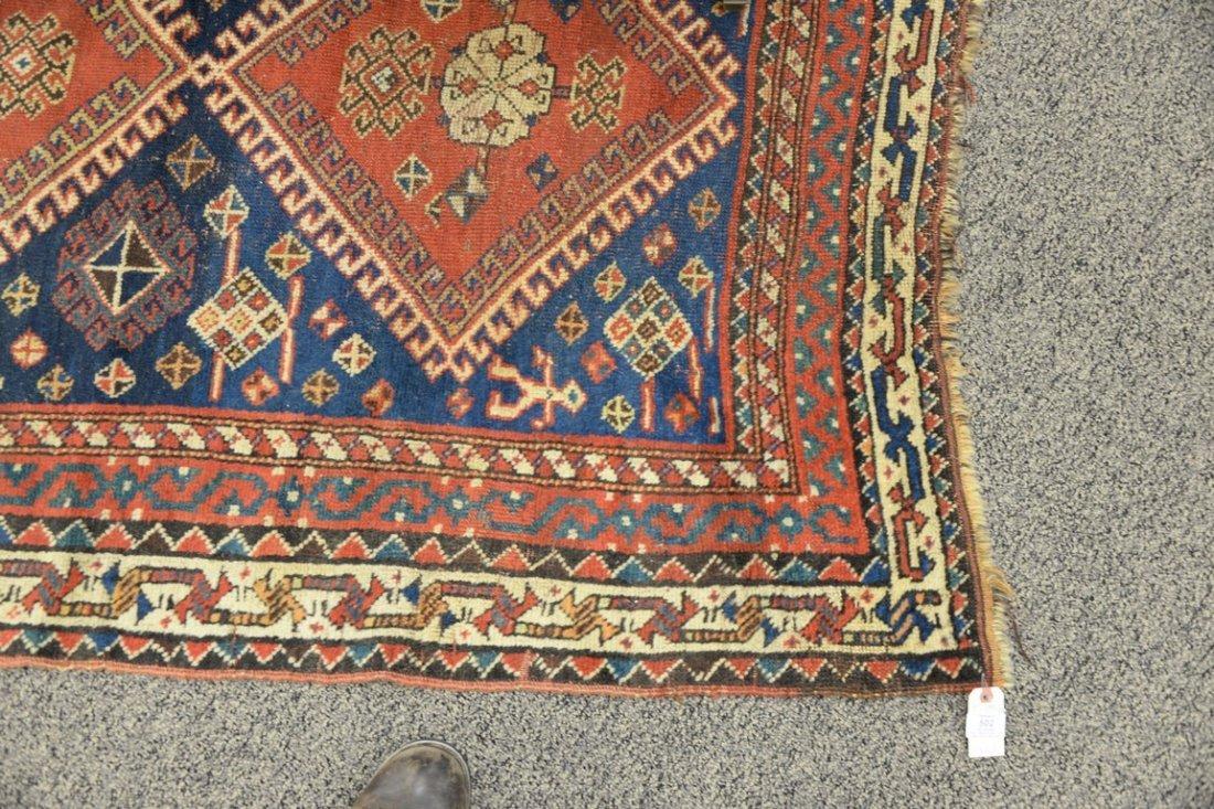 "Caucasian Oriental throw rug.  4' x 5'8"" - 2"