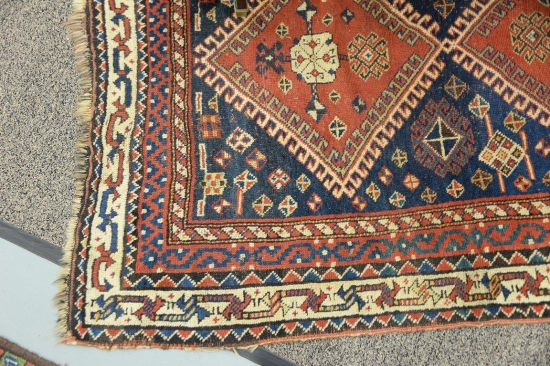 "Caucasian Oriental throw rug.  4' x 5'8"" - 3"