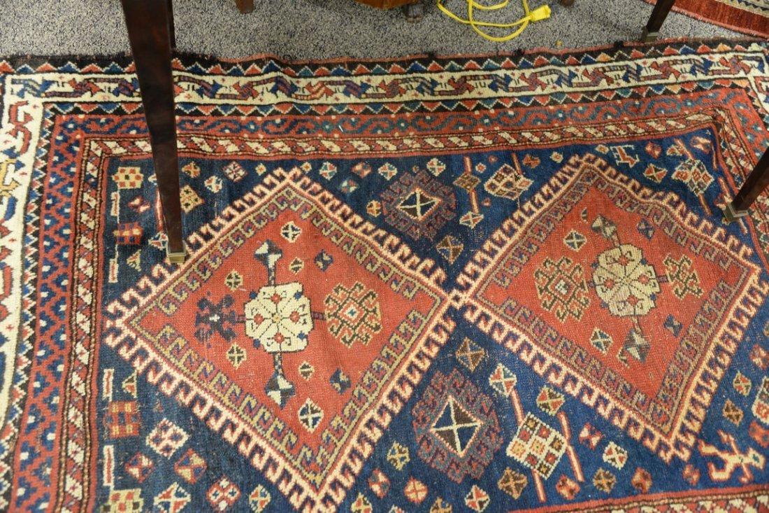 "Caucasian Oriental throw rug.  4' x 5'8"" - 4"