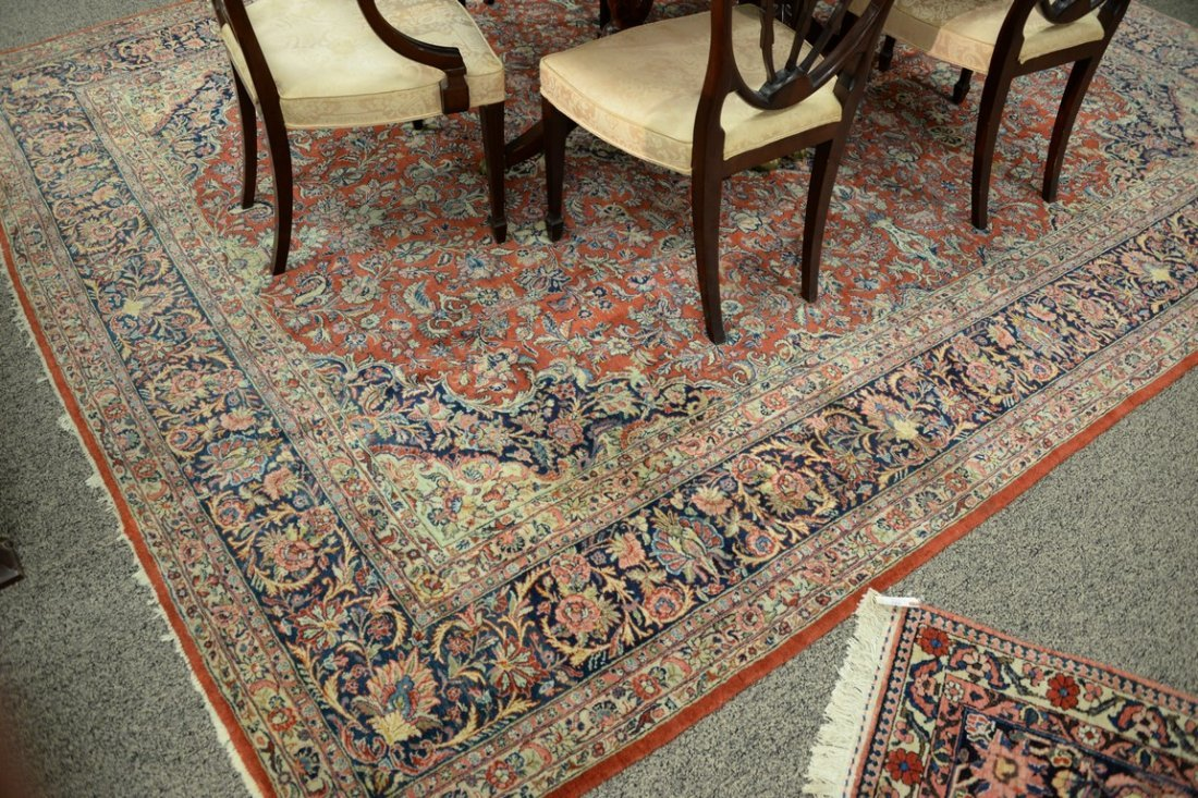 "Kazvin Oriental carpet.  9' x 11'6"" - 4"