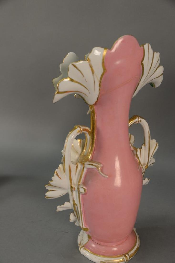 Pair of Victorian large French porcelain vases, each - 15