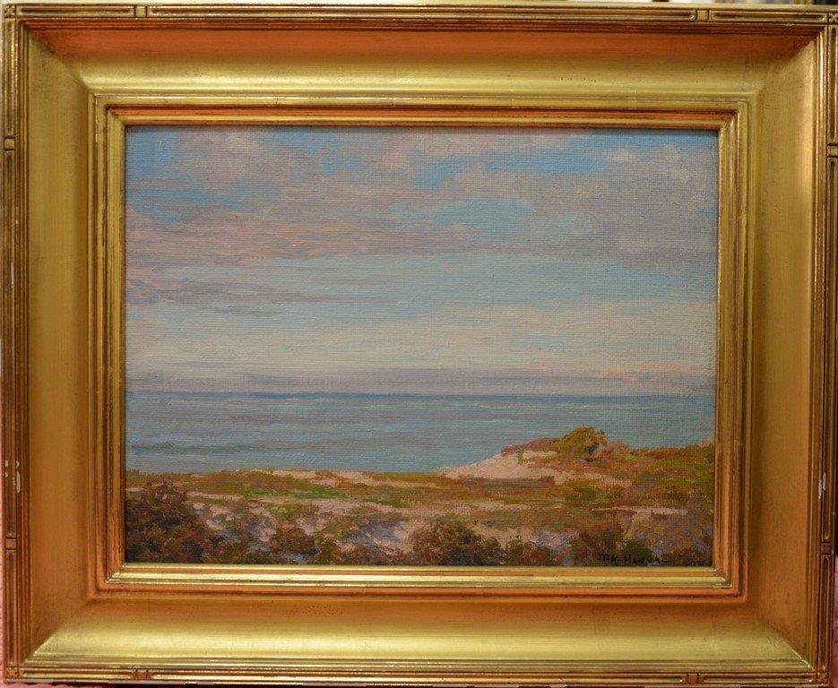 Thomas King JR Hanna (1872-1951)  oil on artist board
