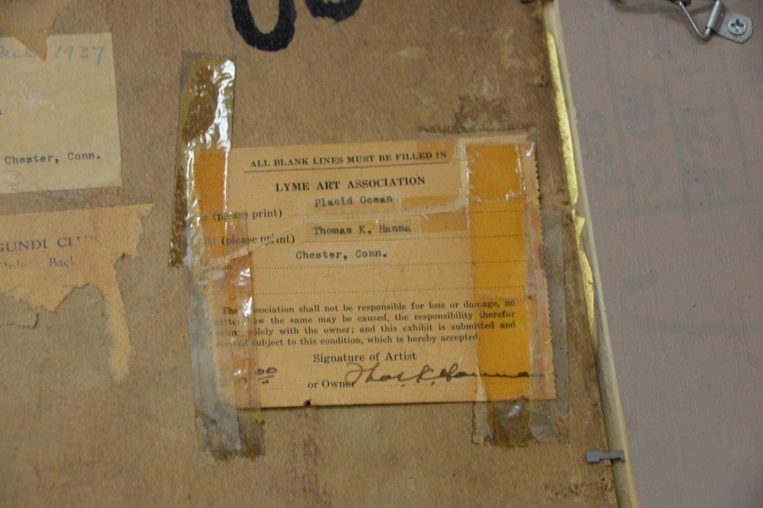Thomas King JR Hanna (1872-1951)  oil on artist board - 5
