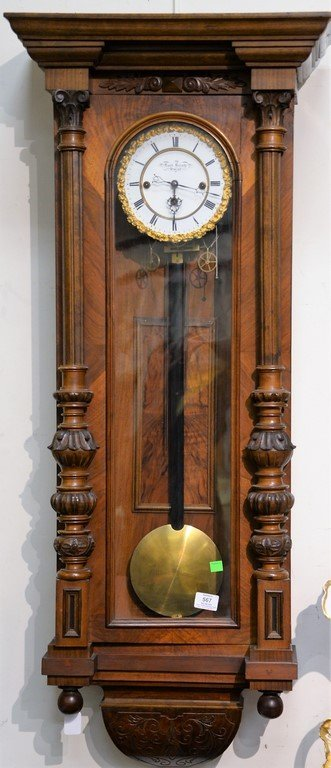 Karl Kreutz In Wien Vienna regulator wall clock, 19th