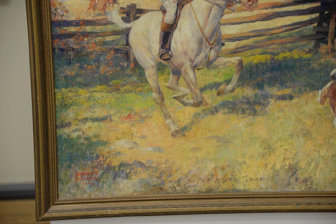 Arthur Ernst Becher (1877-1960)  oil on canvas - 3