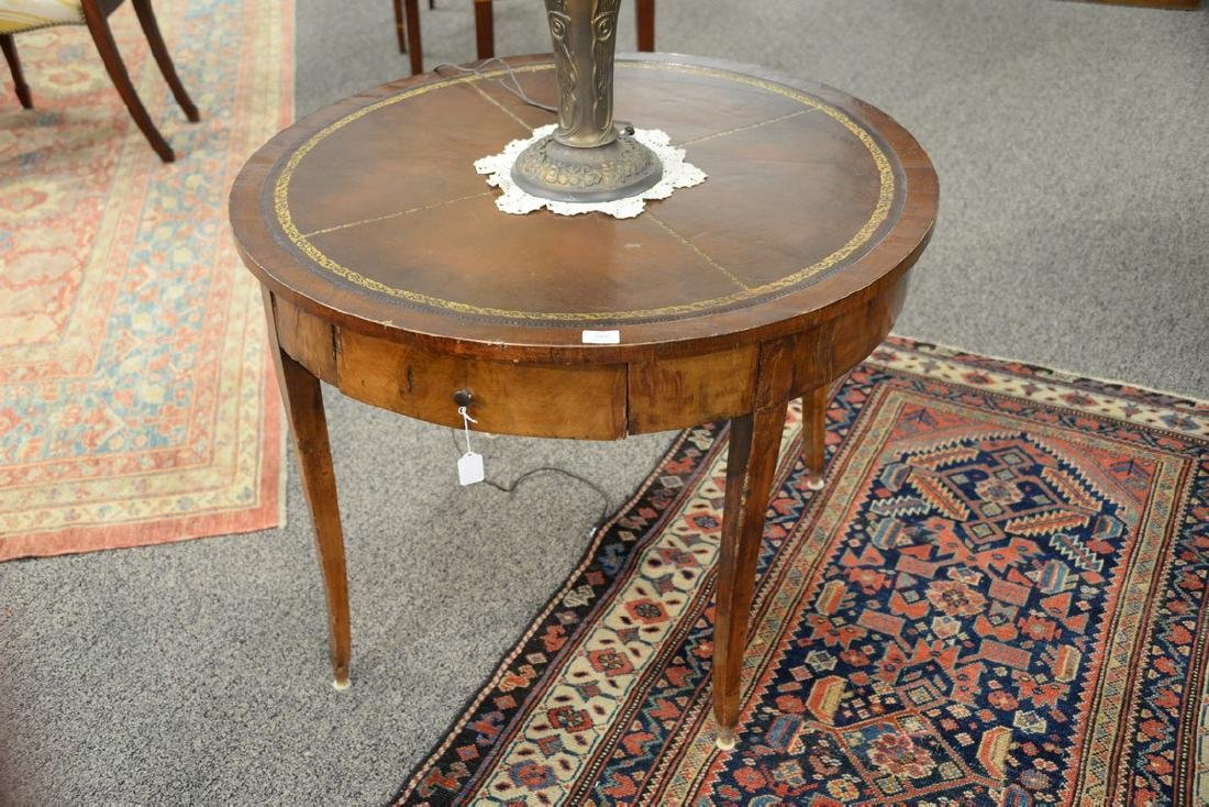 George III mahogany center table with leather top and - 2