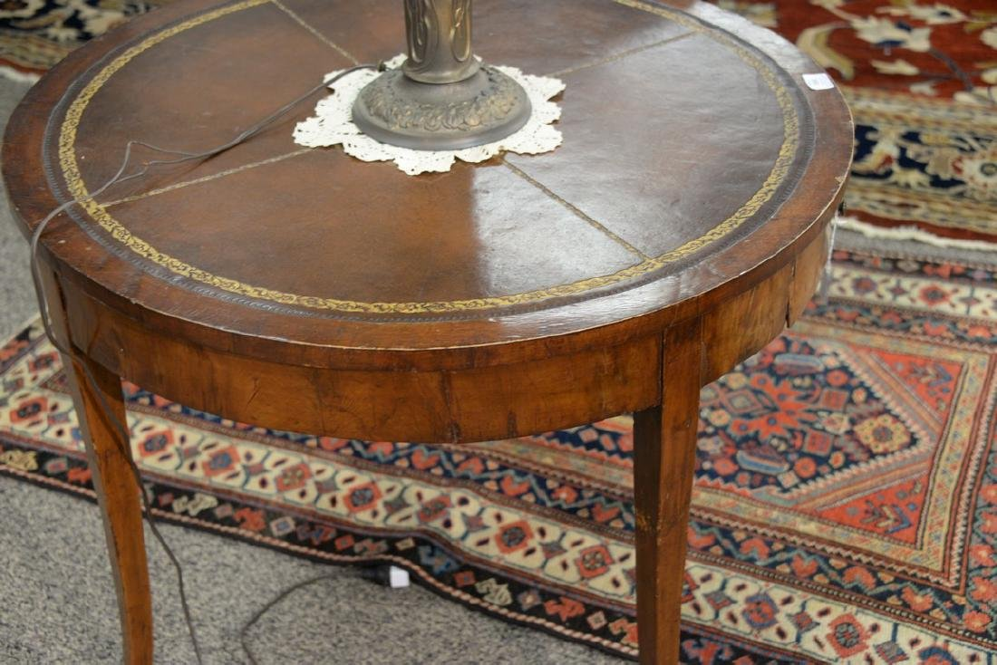George III mahogany center table with leather top and - 4