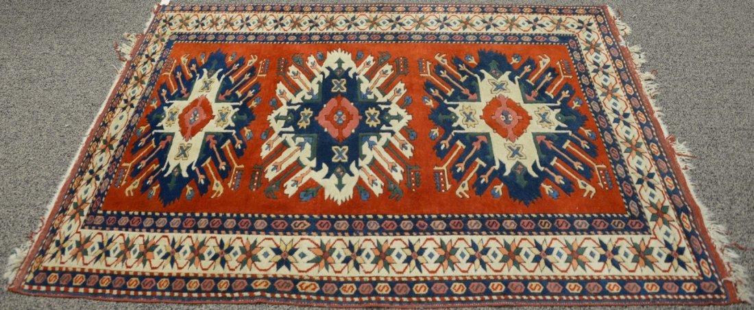 Kazak style Oriental throw rug, late 20th century.