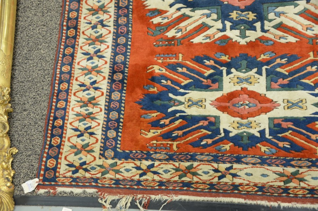 Kazak style Oriental throw rug, late 20th century. - 2
