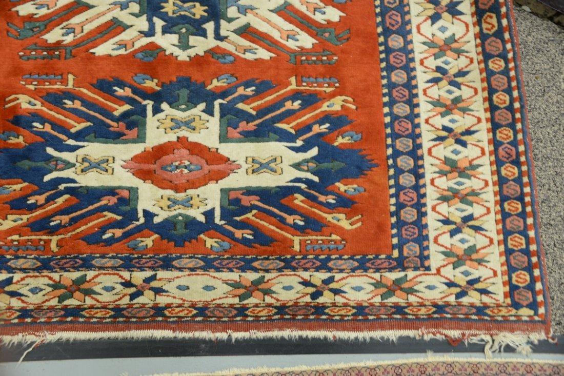 Kazak style Oriental throw rug, late 20th century. - 3