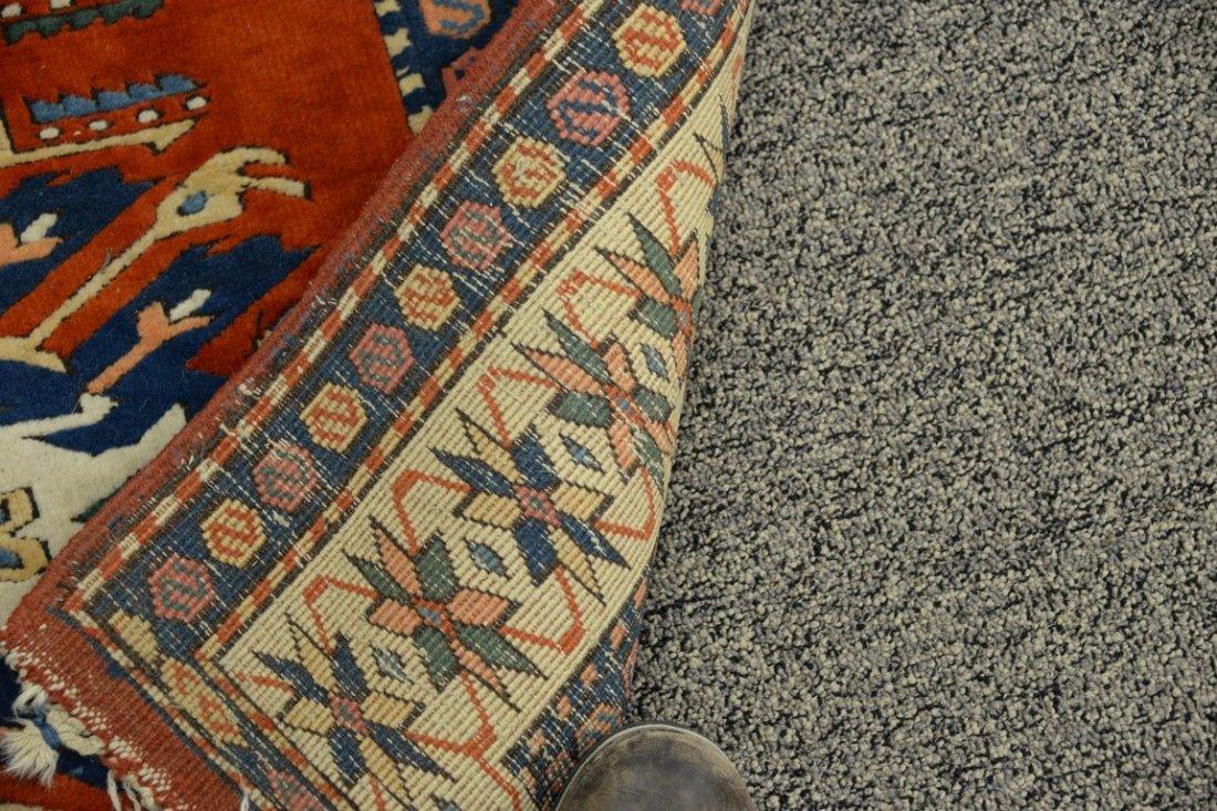 Kazak style Oriental throw rug, late 20th century. - 4