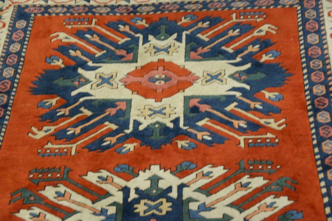 Kazak style Oriental throw rug, late 20th century. - 5