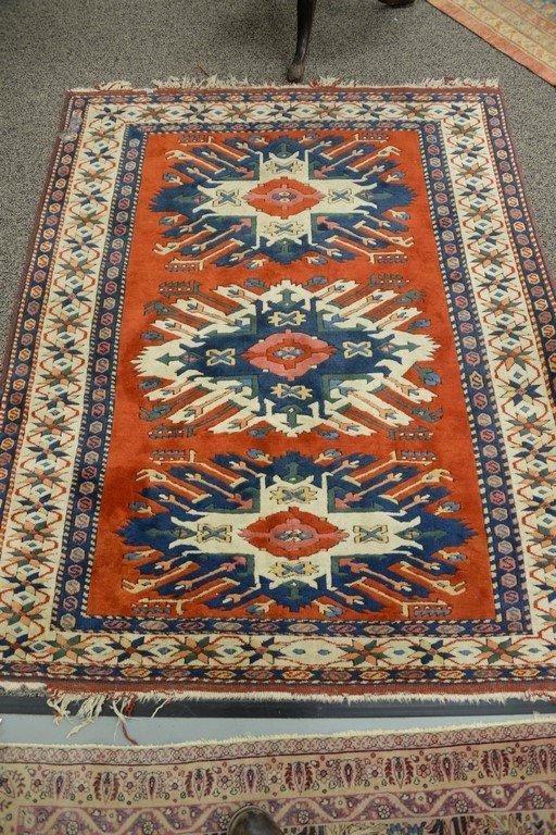 Kazak style Oriental throw rug, late 20th century. - 6
