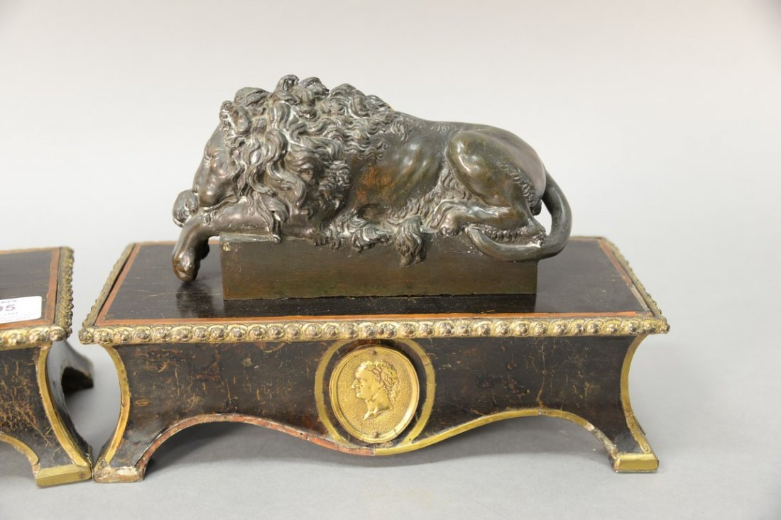 After Guiseppe Boschi (1760-1821)  two bronzes  Lion - 2
