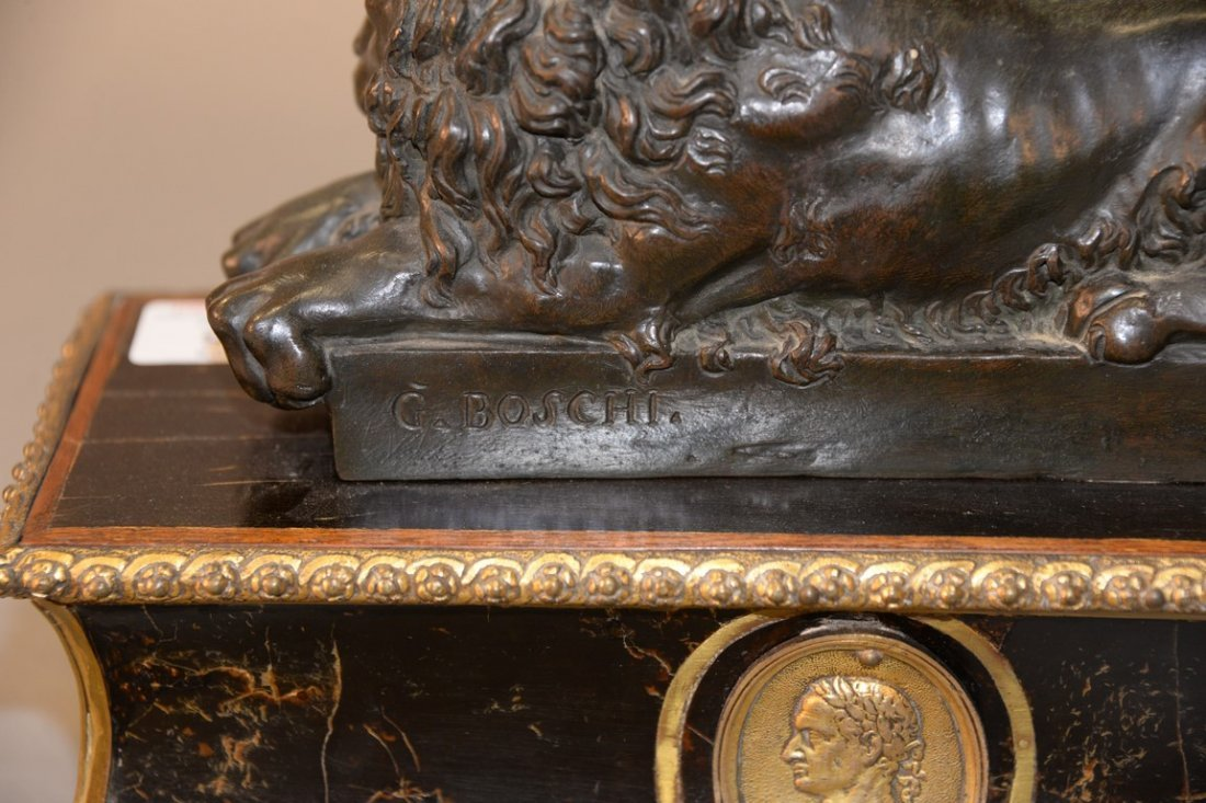 After Guiseppe Boschi (1760-1821)  two bronzes  Lion - 4