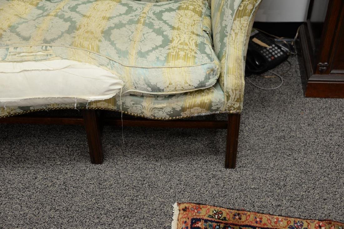 George II sofa having shaped camel back and rolled arms - 3