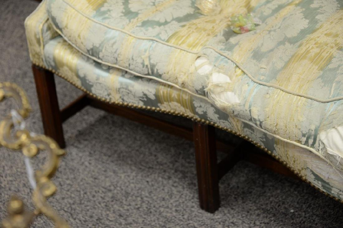 George II sofa having shaped camel back and rolled arms - 4